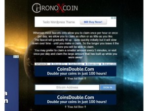 Сайт CHronoX coin