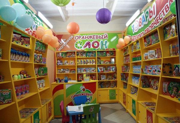 Внутри магазина Оранжевый слон