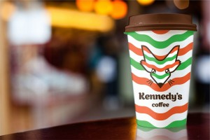 Стаканчик из кофейни Kennedy's Coffee