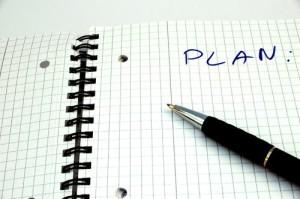 План на листе бумаги