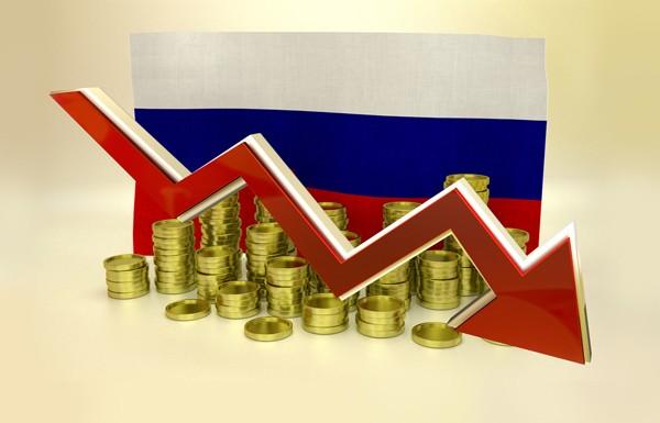 Стрелка на фоне флага России