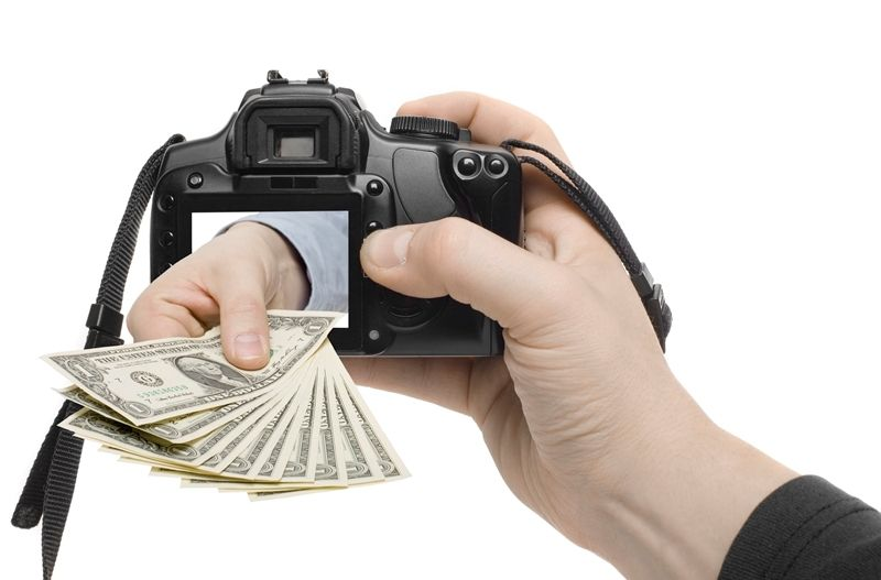 Деньги из фотоаппарата