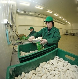Рабочие по производству пельменей