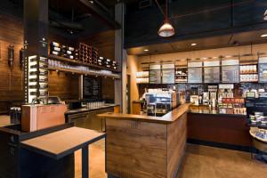 Кофейня Starbucks изнутри