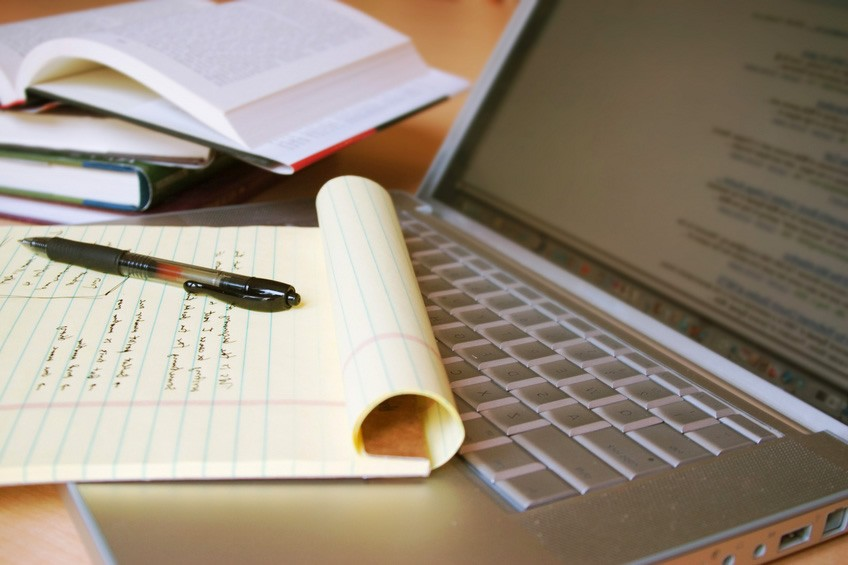 Блокнот и ноутбук