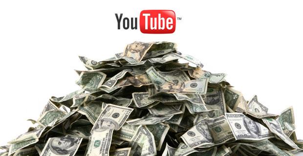 Доллары и логотип Ютуб