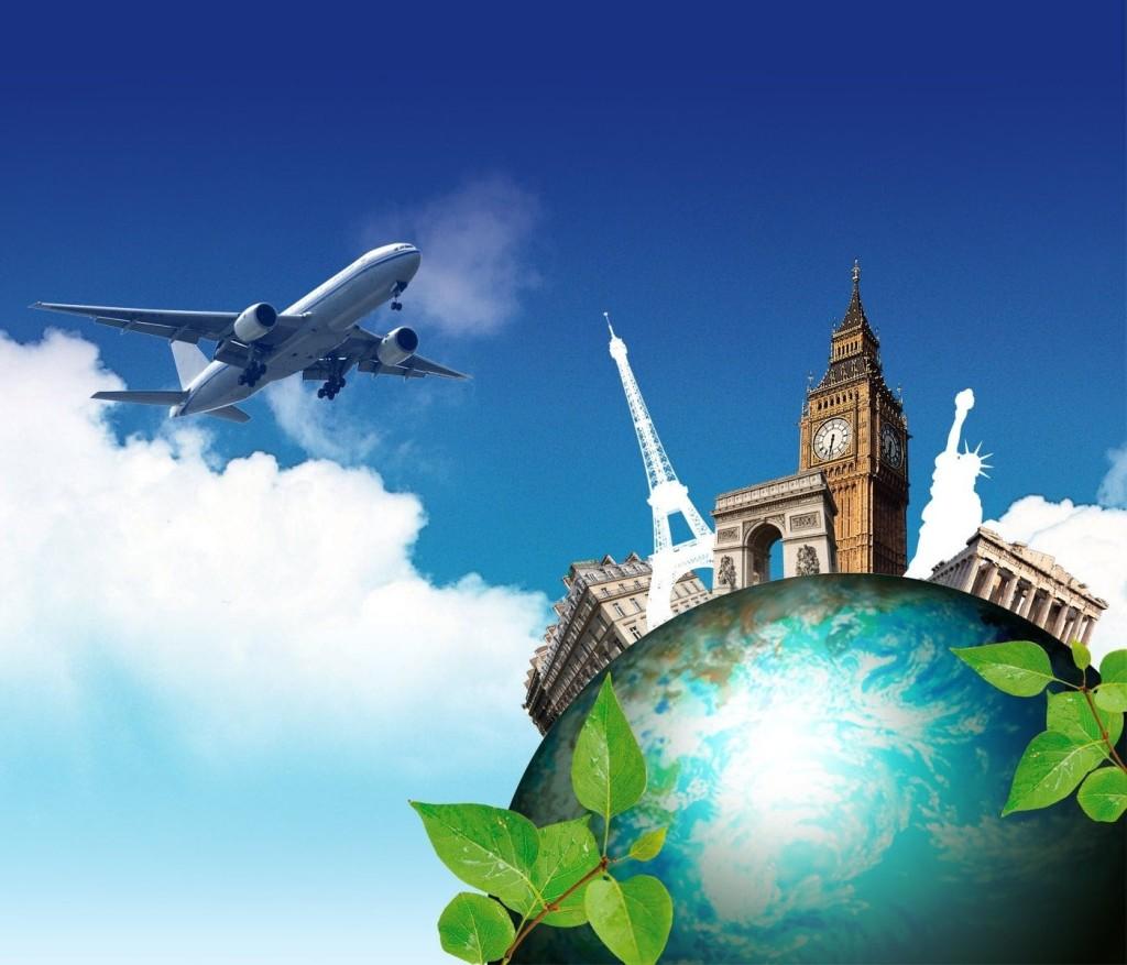 Самолет и земля
