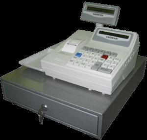 Кассовый аппарат с ящиком для денег