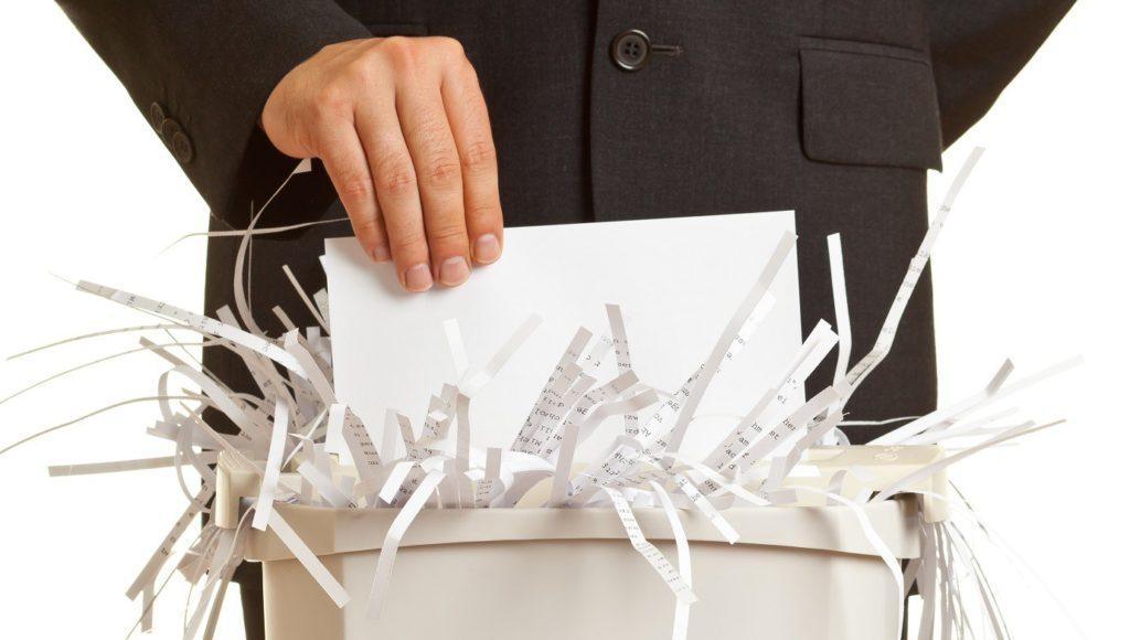 Ликвидация документов